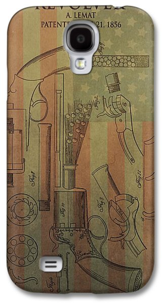 Owner Mixed Media Galaxy S4 Cases - American Vintage Revolver Galaxy S4 Case by Dan Sproul