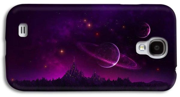 Phantasie Galaxy S4 Cases - Amethyst Night Galaxy S4 Case by Cassiopeia Art