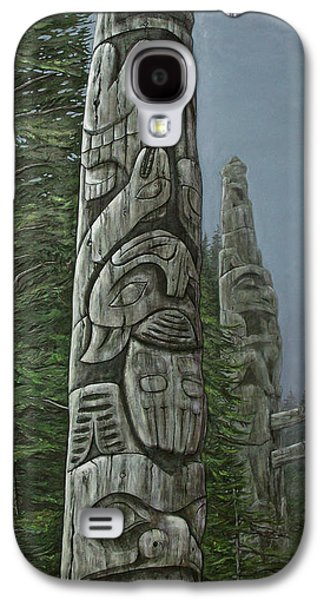Weathered Reliefs Galaxy S4 Cases - Amid The Mist - Totems Galaxy S4 Case by Elaine Booth-Kallweit