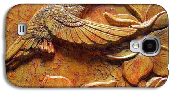 Bas Relief Reliefs Galaxy S4 Cases - Amid the Plumeria Galaxy S4 Case by Jeremiah Welsh