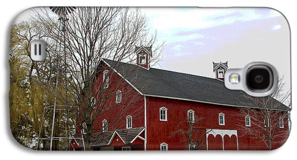 Amish Photographs Galaxy S4 Cases - Amish Barn and Wind Mill - Allen County Indiana Galaxy S4 Case by Suzanne Gaff
