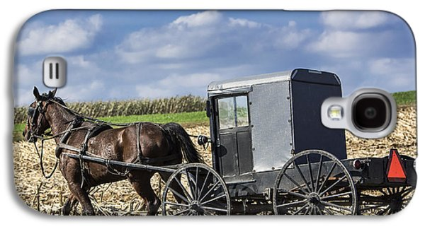 Amish Family Photographs Galaxy S4 Cases - Amish Buggy Galaxy S4 Case by John Greim