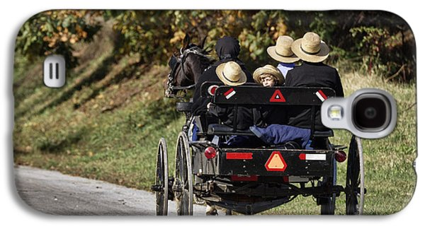 Amish Family Photographs Galaxy S4 Cases - Amish Family Galaxy S4 Case by John Greim