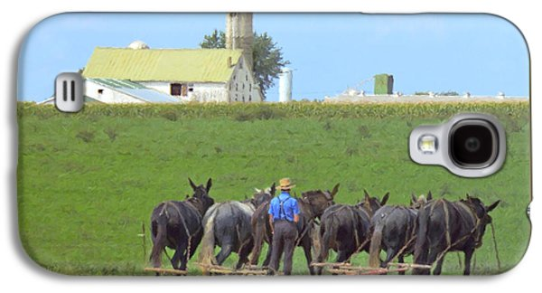 Plow Galaxy S4 Cases - Amish Farmer Working the Land Galaxy S4 Case by Diane Diederich