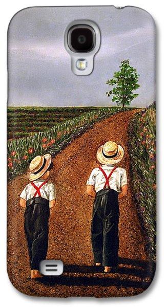 Amish Road Galaxy S4 Case by Linda Simon