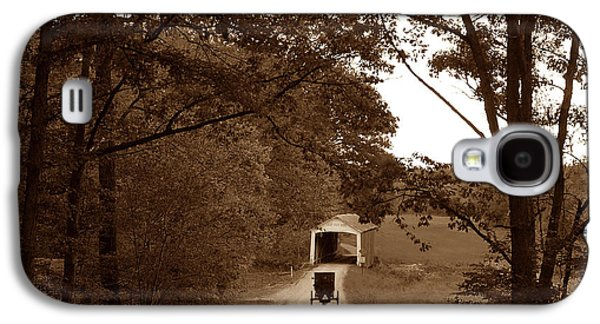 Amish Photographs Galaxy S4 Cases - Amish Rush Hour Galaxy S4 Case by John McAllister