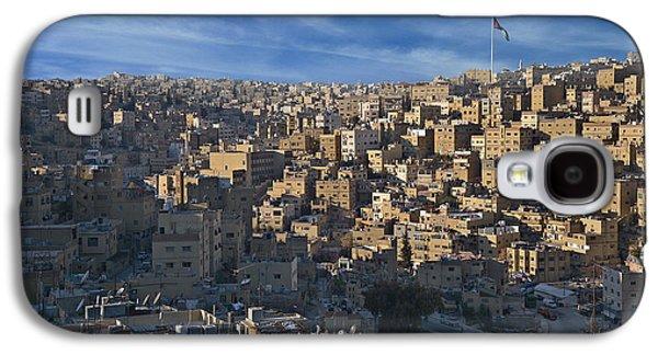 Jordan Pyrography Galaxy S4 Cases - Amman Down town Galaxy S4 Case by Luca Battistella