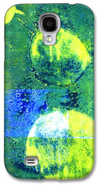 Single Cell Galaxy S4 Cases - Amoeba Abstract Art Galaxy S4 Case by Nancy Merkle