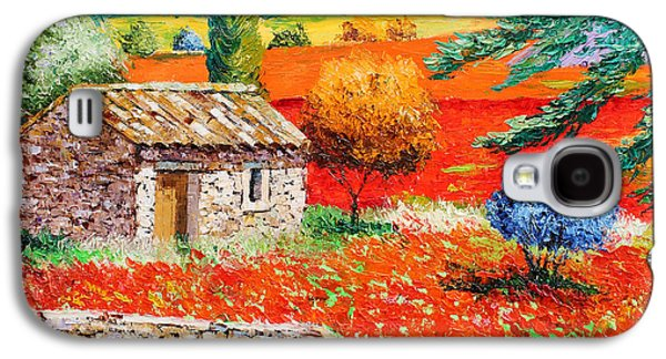 Jeans Galaxy S4 Cases - Among the Poppies Galaxy S4 Case by Jean-Marc Janiaczyk