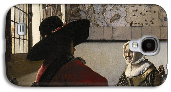 Posters On Paintings Galaxy S4 Cases - Amorous Couple Galaxy S4 Case by Vermeer