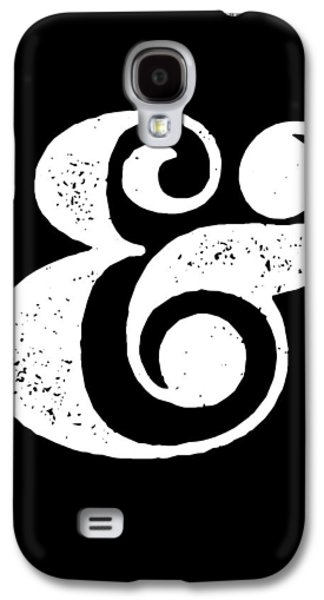 Ampersand Poster Black Galaxy S4 Case by Naxart Studio