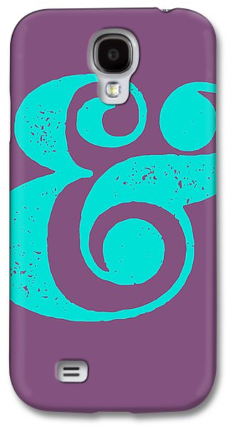 Ampersand Poster Purple And Blue Galaxy S4 Case by Naxart Studio