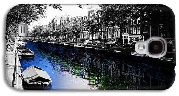 City Streets Galaxy S4 Cases - Amsterdam Colorsplash Galaxy S4 Case by Nicklas Gustafsson