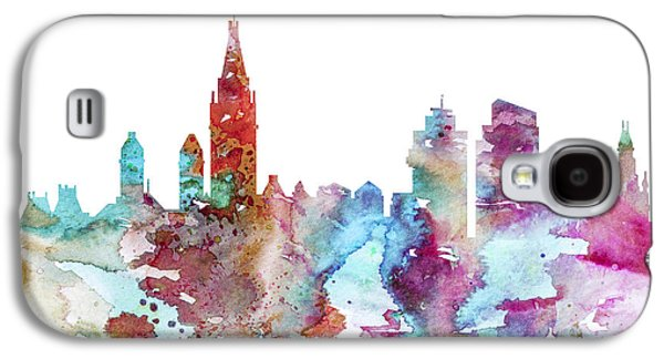 Maps Paintings Galaxy S4 Cases - Amsterdam Galaxy S4 Case by Lyubomir Kanelov