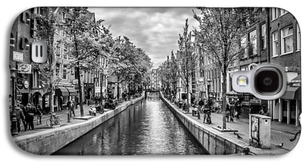 Old Town Digital Art Galaxy S4 Cases - Amsterdam Galaxy S4 Case by Melanie Viola