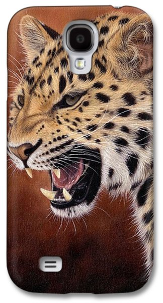 Amur Leopard Painting Galaxy S4 Case by Rachel Stribbling