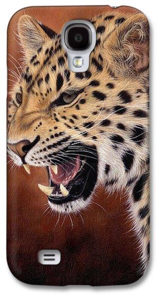 Amur Leopard Painting Galaxy S4 Case by Rachel Stribbling