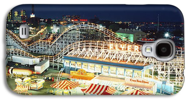 Rollercoaster Photographs Galaxy S4 Cases - Amusement Park Ontario Toronto Canada Galaxy S4 Case by Panoramic Images