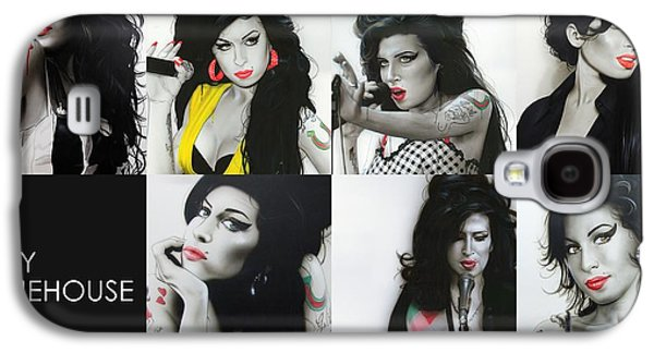 Amy Winehouse - 'amy Eternal' Galaxy S4 Case by Christian Chapman Art