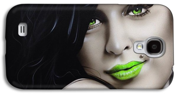 Rhythm And Blues Galaxy S4 Cases - Amy Jade Galaxy S4 Case by Christian Chapman Art