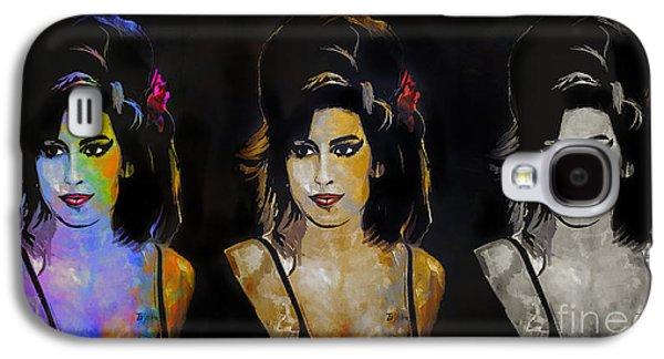 Hairstyle Digital Galaxy S4 Cases - Amy Jade Winehouse Galaxy S4 Case by Andrzej Szczerski