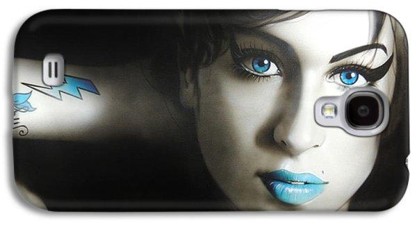 Rhythm And Blues Galaxy S4 Cases - Amy n Blues Galaxy S4 Case by Christian Chapman Art