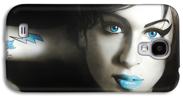 Amy Winehouse - 'amy 'n' Blues' Galaxy S4 Case by Christian Chapman Art