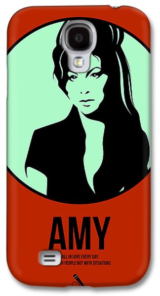 Singer Mixed Media Galaxy S4 Cases - Amy Poster 1 Galaxy S4 Case by Naxart Studio