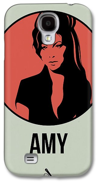 Singer Mixed Media Galaxy S4 Cases - Amy Poster 2 Galaxy S4 Case by Naxart Studio