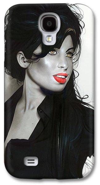 'amy Winehouse' Galaxy S4 Case by Christian Chapman Art