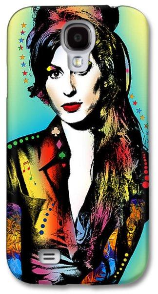 Abstract Digital Art Galaxy S4 Cases - Amy Winehouse Galaxy S4 Case by Mark Ashkenazi