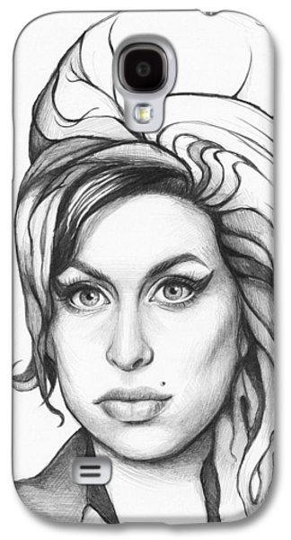 Amy Winehouse Galaxy S4 Case by Olga Shvartsur