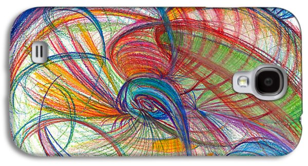 Abstract Movement Drawings Galaxy S4 Cases - An Affair of Energy Galaxy S4 Case by Kelly K H B