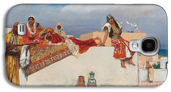 Persian Carpet Galaxy S4 Cases - An Afternoon Idyll Galaxy S4 Case by Jean Joseph Benjamin Constant