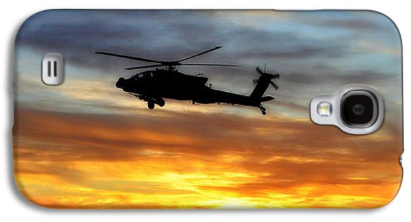 3rd Base Galaxy S4 Cases - An AH-64 Apache Galaxy S4 Case by Paul Fearn