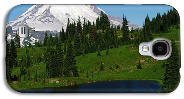 Snow Melt Galaxy S4 Cases - An Alpine Lake Foreground Mt Rainer Galaxy S4 Case by Jeff  Swan