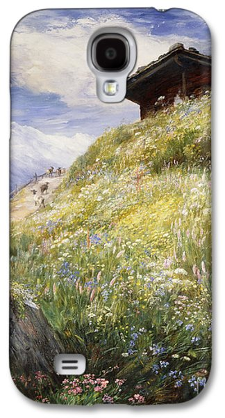 An Alpine Meadow Switzerland Galaxy S4 Case by John  MacWhirter
