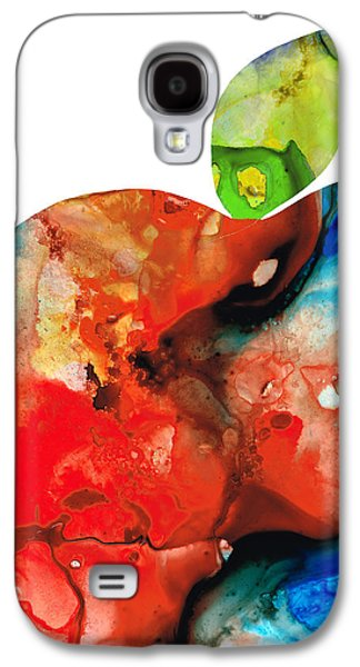 Still Life Mixed Media Galaxy S4 Cases - An Apple A Day - Colorful Fruit Art By Sharon Cummings  Galaxy S4 Case by Sharon Cummings