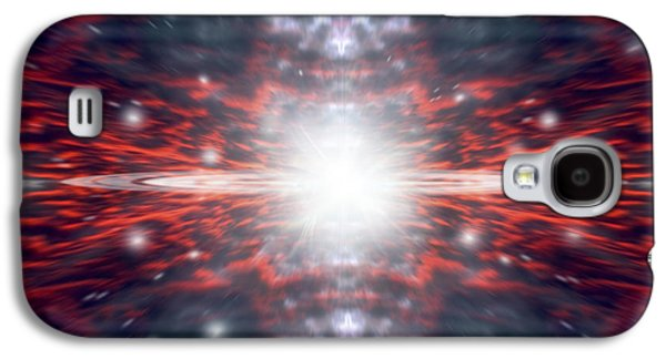 Jet Star Galaxy S4 Cases - An Artists Depiction Of The Big Bang Galaxy S4 Case by Marc Ward