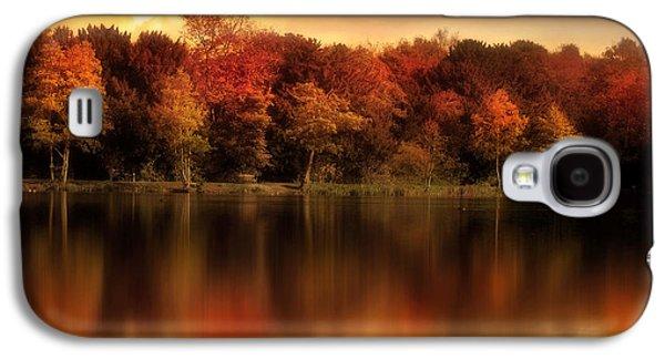 Autumn Landscape Digital Art Galaxy S4 Cases - An Autumn Evening Galaxy S4 Case by Jennifer Woodward