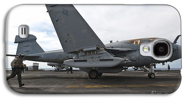 Enterprise Galaxy S4 Cases - An Ea-6b Prowler Prepares To Launch Galaxy S4 Case by Stocktrek Images