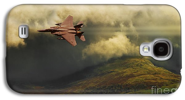 Dogfight Galaxy S4 Cases - An Eagle Over Cumbria Galaxy S4 Case by Meirion Matthias