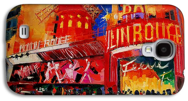Crowd Galaxy S4 Cases - An Evening At Moulin Rouge Galaxy S4 Case by Mona Edulesco