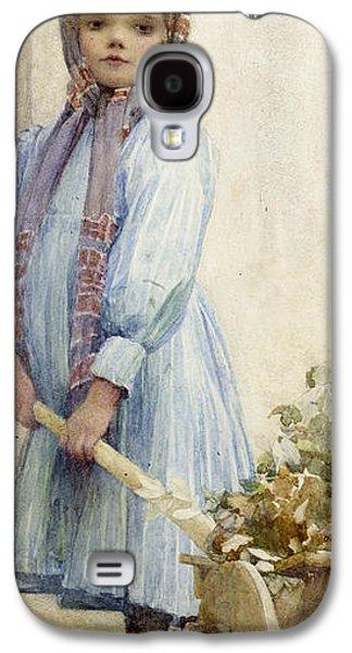Full-length Portrait Galaxy S4 Cases - An Italian Peasant Girl Galaxy S4 Case by Ada M Shrimpton