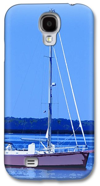 Transportation Ceramics Galaxy S4 Cases - Anchored in the Bay Galaxy S4 Case by Laurie Pike