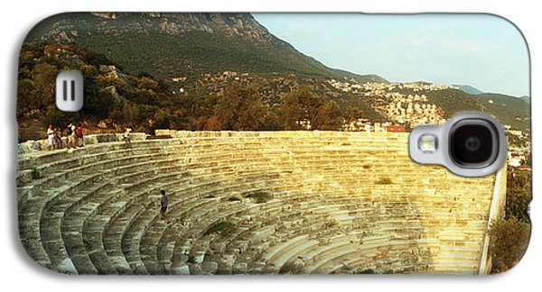 Ancient Civilization Galaxy S4 Cases - Ancient Antique Theater At Sunset Galaxy S4 Case by Panoramic Images