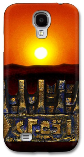 Sun Sculptures Galaxy S4 Cases - Mysterious  Ancient  Artifact  Galaxy S4 Case by Hartmut Jager