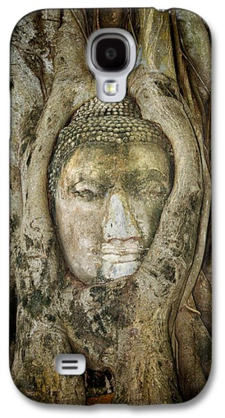 Ancient Buddha Entwined Within Tree Roots In Thailand Galaxy S4 Case by Artur Bogacki