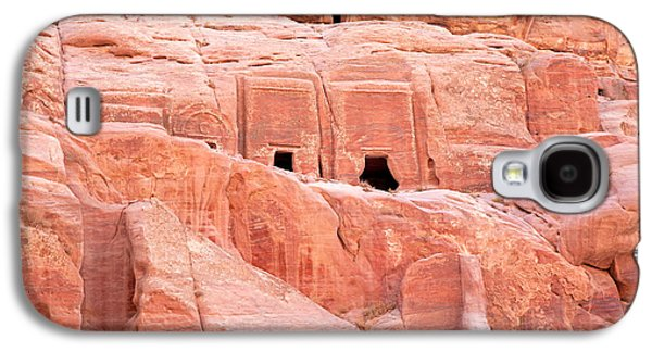 Civilization Galaxy S4 Cases - Ancient buildings in Petra Galaxy S4 Case by Jane Rix