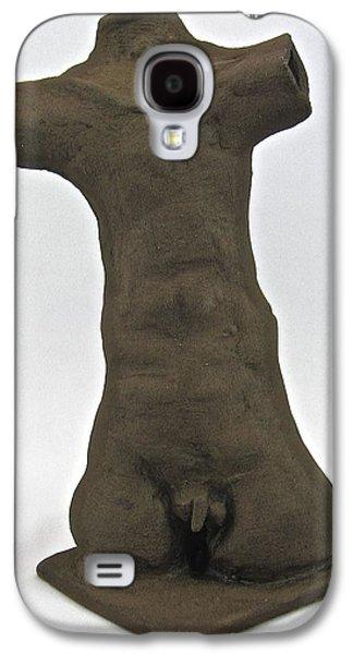 Ancient Ceramics Galaxy S4 Cases - Ancient Idol Galaxy S4 Case by Mario Perron